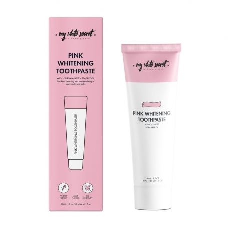 Pink whitening toothpaste